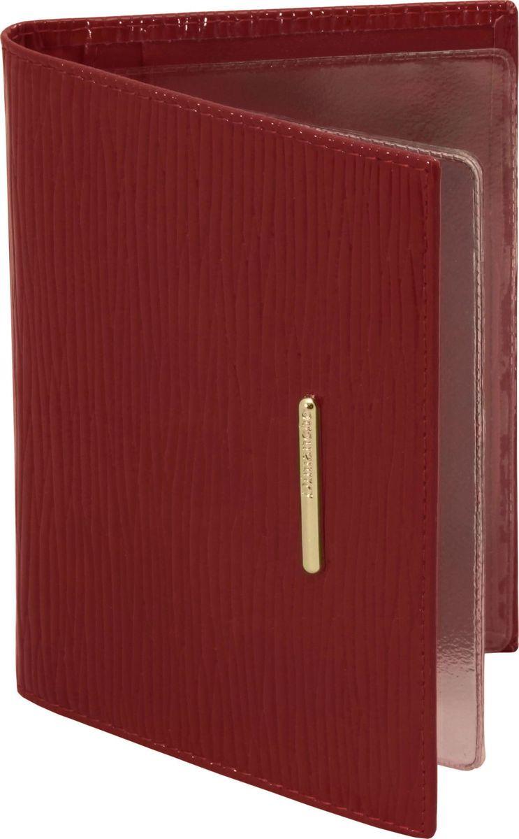 Обложка для автодокументов женская Dimanche Найс, цвет: красный. 148FS-80423Обложка для автодокументов Dimanche выполнена из натуральной лаковой кожи и оформлена декоративным тиснением. Внутри расположено 4 кармана для банковских и дисконтных карт, один карман для SIM-карты и два вертикальных кармана. Также внутри расположен пластиковый блок с файлами для автодокументов.