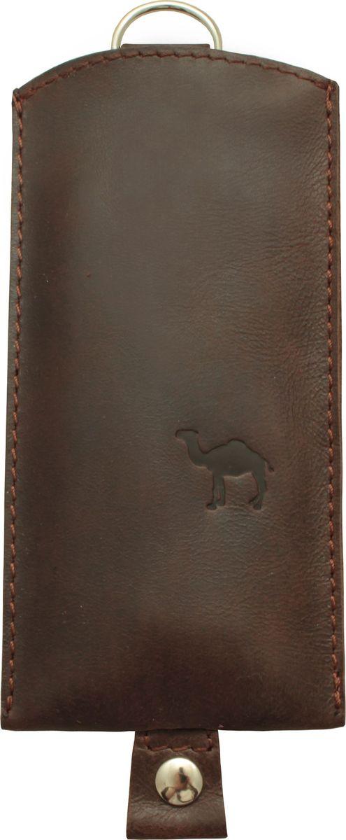 Ключница Dimanche Camel, цвет: коричневый. 257/20/КСерьги с подвескамиОригинальная ключница Dimanche Camel из натуральной кожи предназначена для компактного хранения ключей. В ней удобно размещаются как короткие, так и длинные ключи. Движущийся хлястик с кольцом на конце позволяет быстро убрать ключ внутрь изделия.