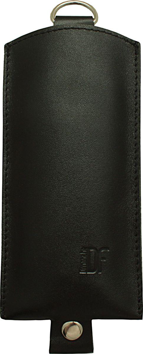 Ключница Dimanche Бонд, цвет: черный. 257/12Ажурная брошьОригинальная ключница Dimanche Бонд из натуральной кожи предназначена для компактного хранения ключей. В ней удобно размещаются как короткие, так и длинные ключи. Движущийся хлястик с кольцом на конце позволяет быстро убрать ключ внутрь изделия.