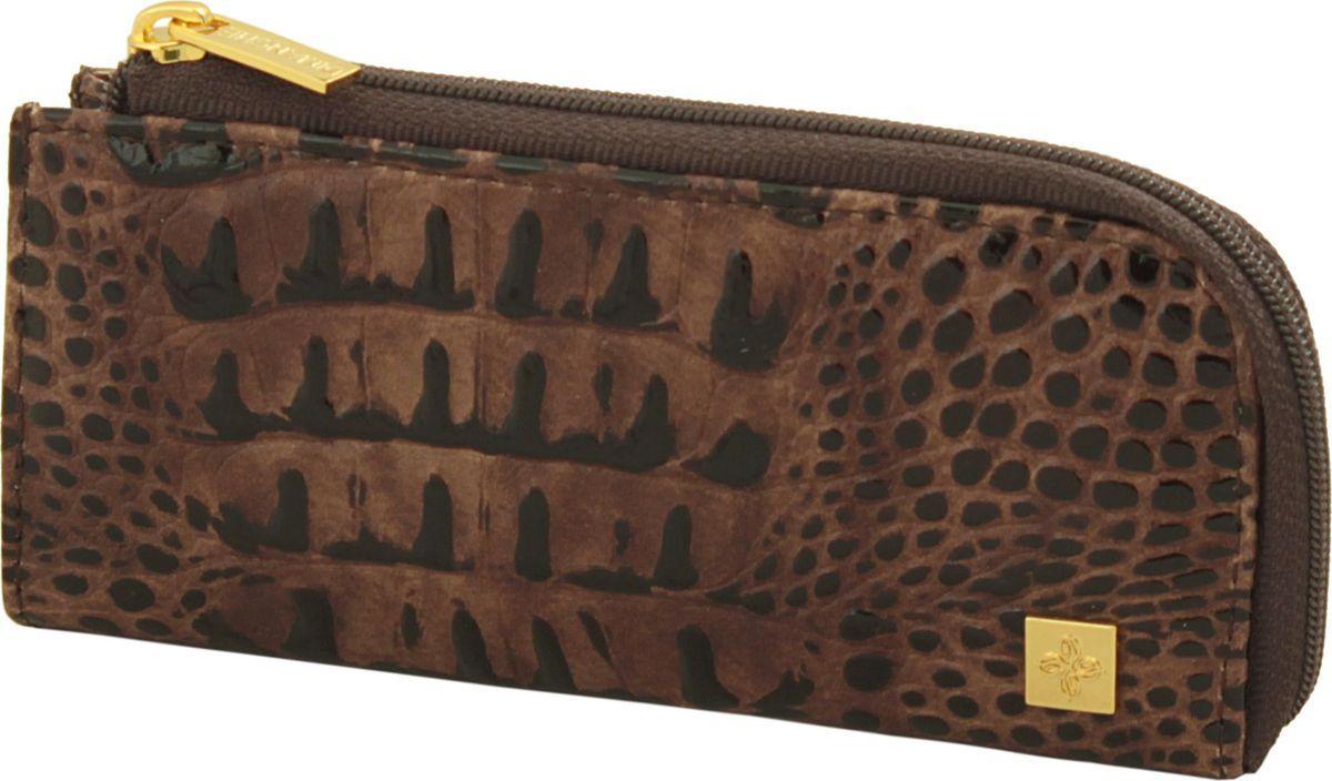 Ключница женская Dimanche Loricata Brun, цвет: коричневый. 240/8Брошь-кулонПриятная на ощупь ключница Dimanche Loricata Brun изготовлена из натуральной кожи. Ключница закрывается на молнию, внутри ключницы на кожаной петле крепится металлическое кольцо для ключей. Модель небольшая, но вместительная имеет подкладку из полиэстера.
