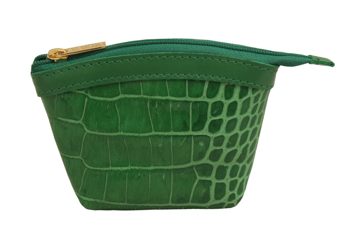 Кошелек-монетница женский Dimanche Казино, цвет: зеленый. 258/26INT-06501Кошелек-монетница Dimanche выполнен из натуральной кожи и оформлен декоративным тиснением под рептилию. Изделие закрывается с помощью застежки-молнии. Внутри расположено главное отделение с поверхностью из шелковистого текстиля.