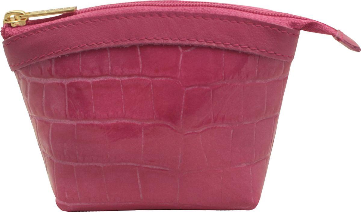Кошелек-монетница женский Dimanche, цвет: розовый. 258/27BM8434-58AEКошелек-монетница Dimanche выполнен из натуральной лаковой кожи и оформлен декоративным тиснением под рептилию. Изделие закрывается с помощью застежки-молнии. Внутри расположено главное отделение с поверхностью из шелковистого текстиля.