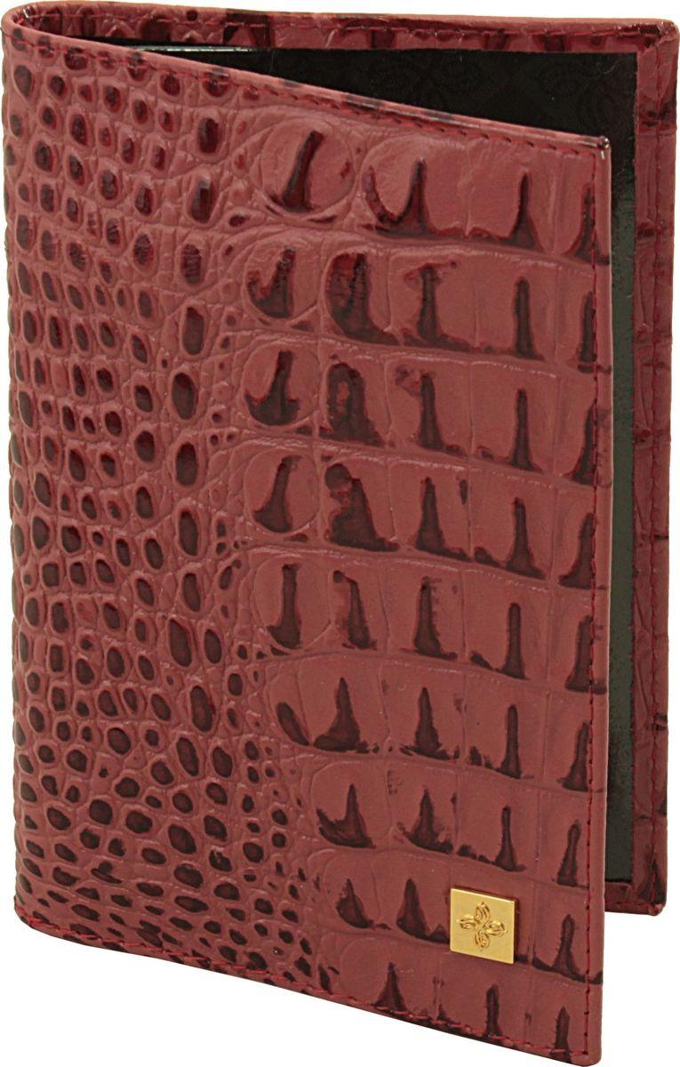 Обложка для паспорта женская Dimanche Loriсata Rouge, цвет: красный. 541/8W16-11135_914Обложка для паспорта Dimanche, выполненная из натуральной кожи, оформлена тиснением под рептилию и металлической пластинкой с логотипом бренда. Внутри расположено два кармана для фиксации документа. Обложка для паспорта сохранит внешний вид вашего документа и защитит от повреждений.
