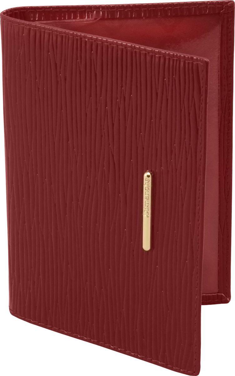 Обложка для паспорта женская Dimanche Найс, цвет: темно-красный. 140O.82.FP.бирюзовыйОбложка для паспорта Dimanche, выполненная из натуральной лаковой кожи, оформлена декоративным тиснением и металлической пластинкой с названием бренда. Внутри расположено два кармана для фиксации документа. Обложка для паспорта сохранит внешний вид вашего документа и защитит от повреждений.