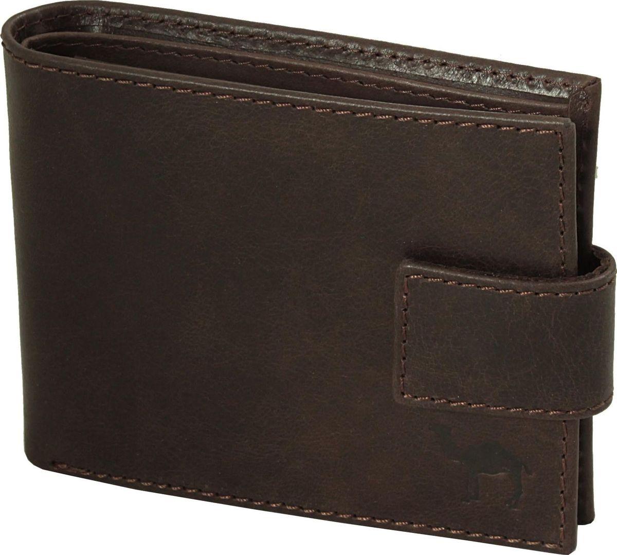 Портмоне мужское Dimanche Camel, цвет: коричневый. 634/КINT-06501Удобное и функциональное портмоне Dimanche Camel изготовлено из натуральной гладкой кожи. Закрывается модель хлястиком на кнопку. Внутри имеется два отделения для купюр, дополнительный карман на молнии, объемный карман для мелочи, который закрывается клапаном с потайной кнопкой и семь карманов для кредитных карт.