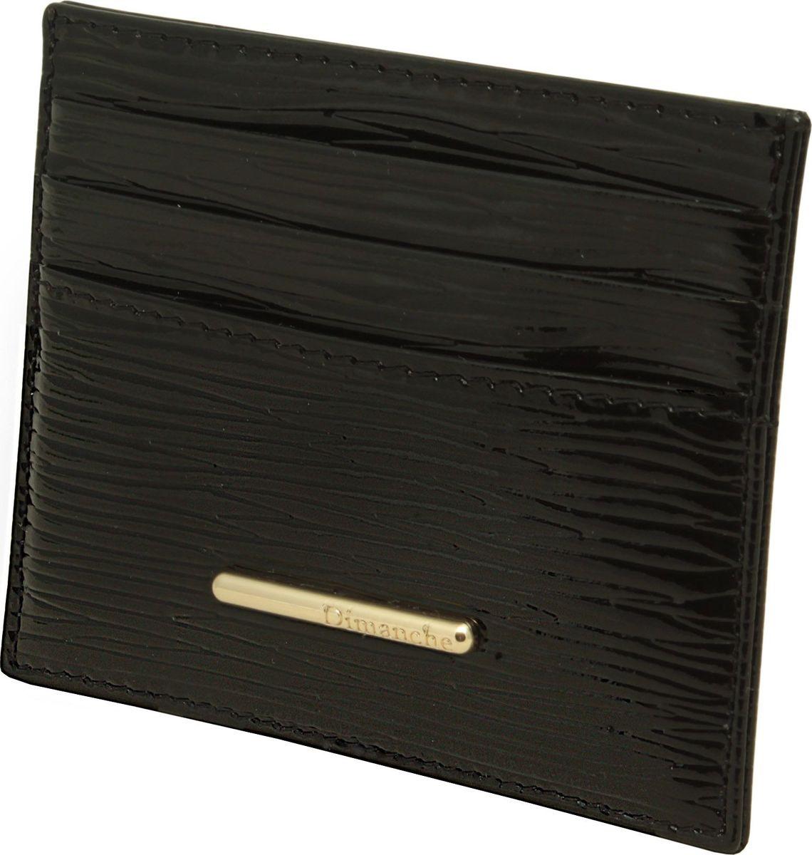 Визитница женская Dimanche Nice, цвет: черный. 290INT-06501Миниатюрная визитница Dimanche Nice для хранения визитных или кредитных кар изготовлена из натуральной кожи. С каждой стороны имеется по 3 кармашка и посередине потайной карман.