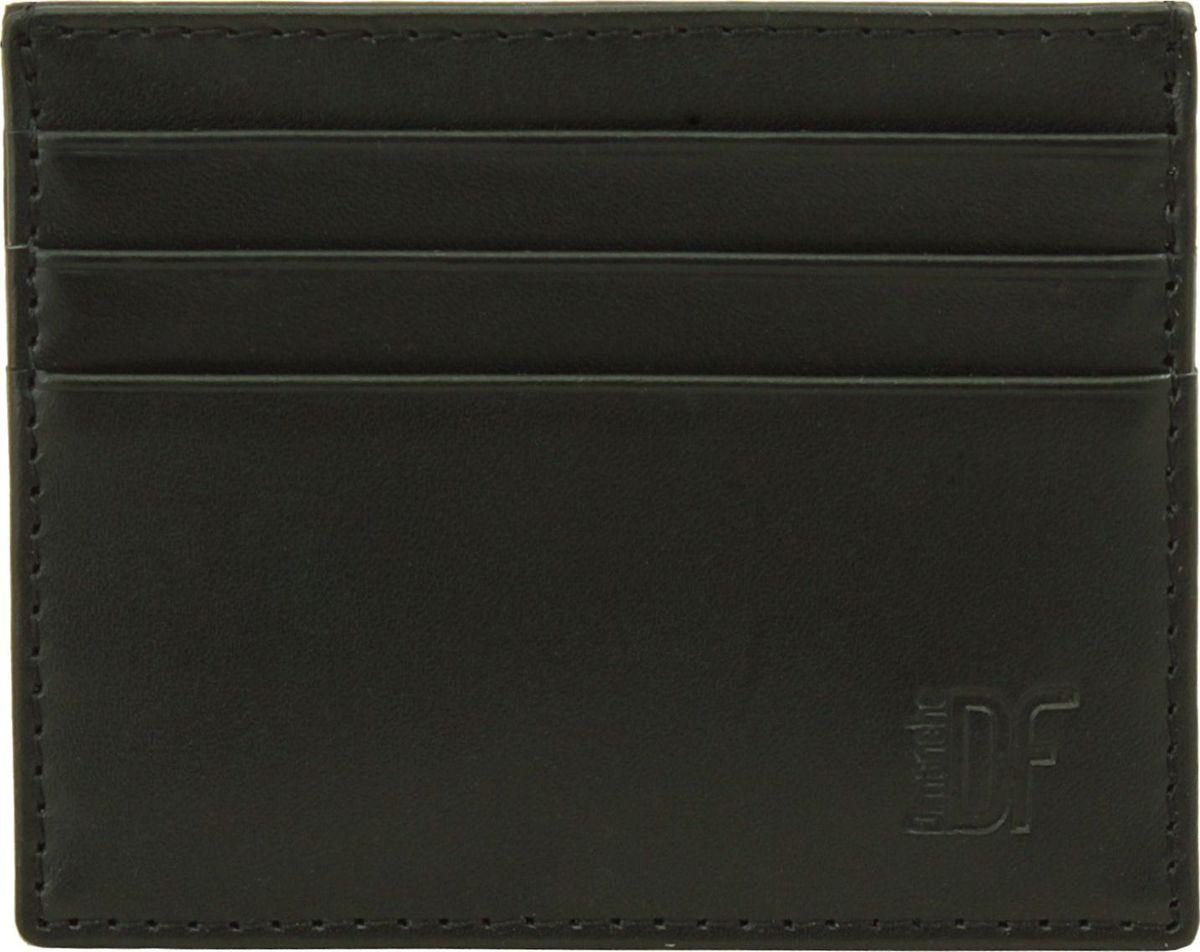 Визитница мужская Dimanche Bond, цвет: черный. 339INT-06501Миниатюрная визитница Dimanche Bond для хранения визитных или кредитных кар изготовлена из натуральной кожи. С каждой стороны имеется по три кармашка и посередине потайной карман.