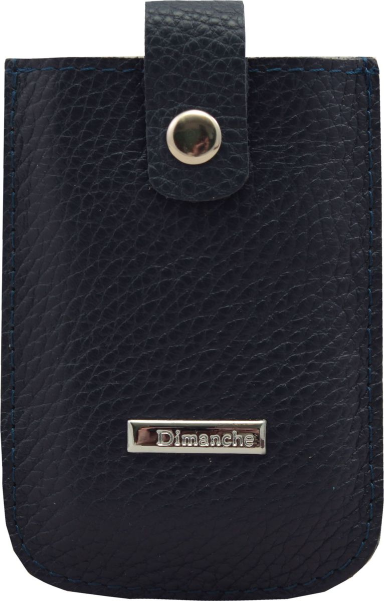 Визитница Dimanche, цвет: темно-синий. 283/03ERJAA03224-WBT0Удобная и компактная визитница Dimanche для дисконтных или банковских карт изготовлена из натуральной кожи. Движущийся хлястик позволяет быстро достать карточки.