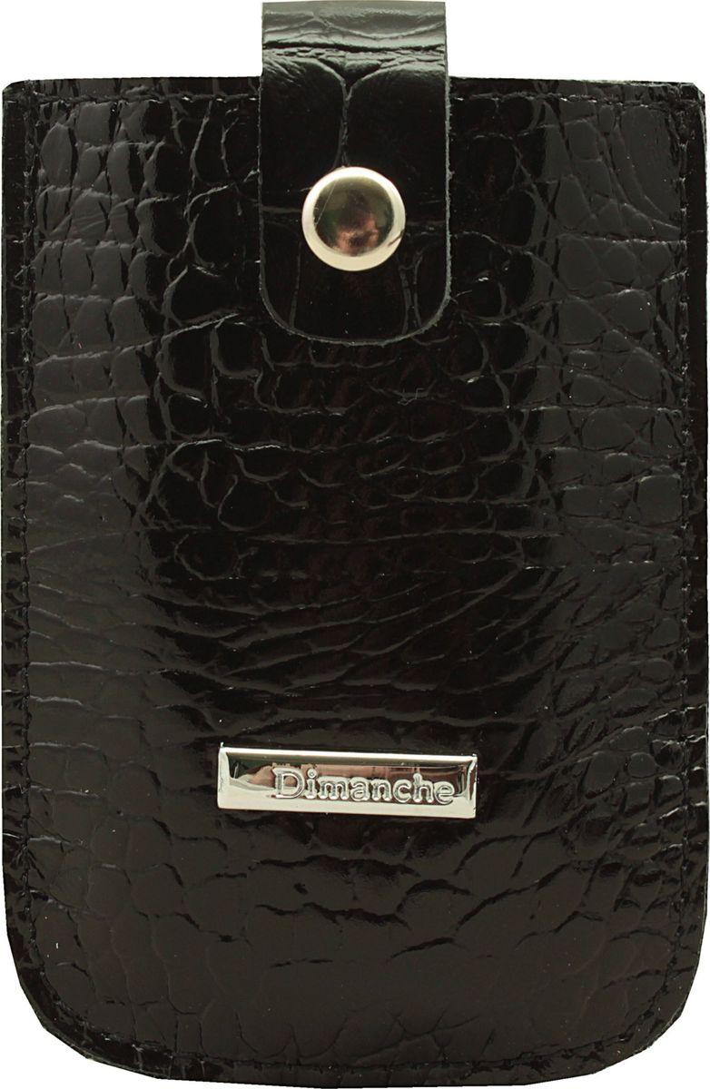 Визитница Dimanche, цвет: черный. 283/11392678Удобная и компактная визитница Dimanche для дисконтных или банковских карт изготовлена из натуральной кожи. Движущийся хлястик позволяет быстро достать карточки.