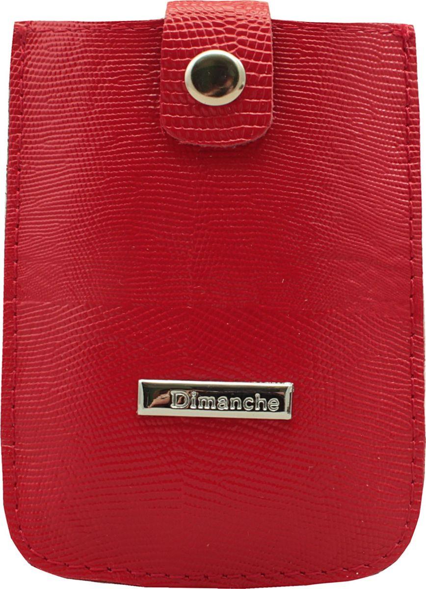 Визитница женская Dimanche, цвет: красный. 283/13INT-06501Удобная и компактная визитница Dimanche для дисконтных или банковских карт изготовлена из натуральной кожи. Движущийся хлястик позволяет быстро достать карточки.