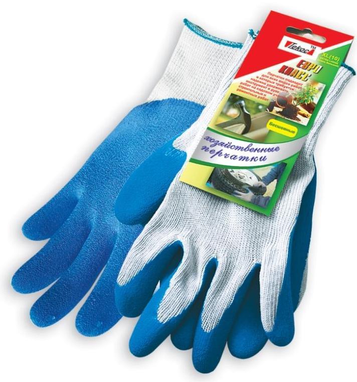Перчатки хозяйственные Текос Евро. Размер 9 (L)7.5Хозяйственные хлопковые перчатки с обливом ладони и пальцев слоем латекса. Защищают кожу от влаги и грязи.