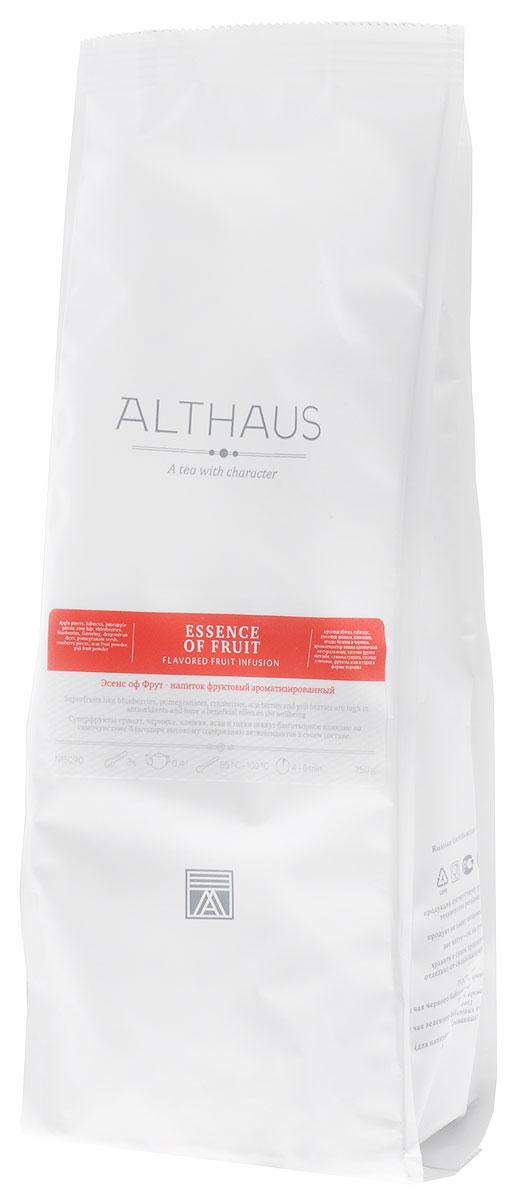 Althaus Essence of Fruin фруктовый листовой чай, 250 г4791029011394Суперфрукты гранат, черника, клюква, асаи и годжи окажут благотворное влияние на самочувствие благодаря высокому содержанию антиоксидантов в своем составе.