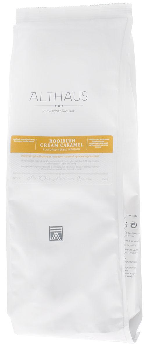 Althaus Rooibush Cream Caramel травяной листовой чай, 250 г