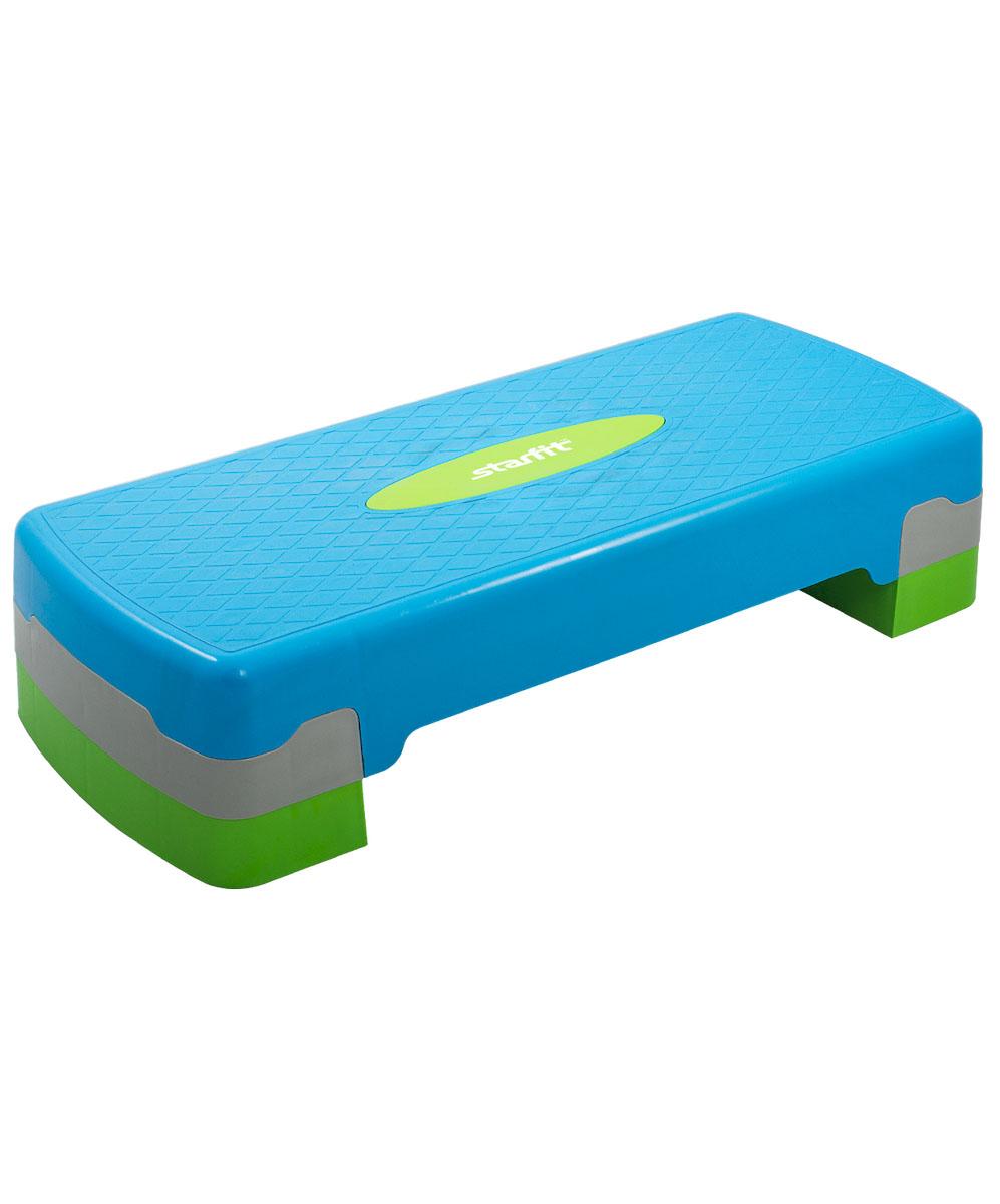 Степ-платформа STARFIT SP-101 67,5 х 28,5 х 10,5 см, 2-х уровневая 1/4WRA523700Степ-платформа SP-101 предназначена для занятий аэробикой в фитнес-клубах, спортивных залах и для домашнего использования. С помощью тренажера можно оптимизировать нагрузку на мышцы ног и ягодиц, сделать мышцы тела подтянутыми и стройными. За счет высокоинтенсивной тренировки на степе, можно наладить работу сердечно-сосудистой системы. Степ-платформа один из самых популярных аксессуаров в фитнесе. Тренажер используют в функциональном тренинге, бодибилдинге, групповых программах. Количество уровней: 2. Высота платформы с уровнями: 15 см. Высота первого уровня: 10 см.
