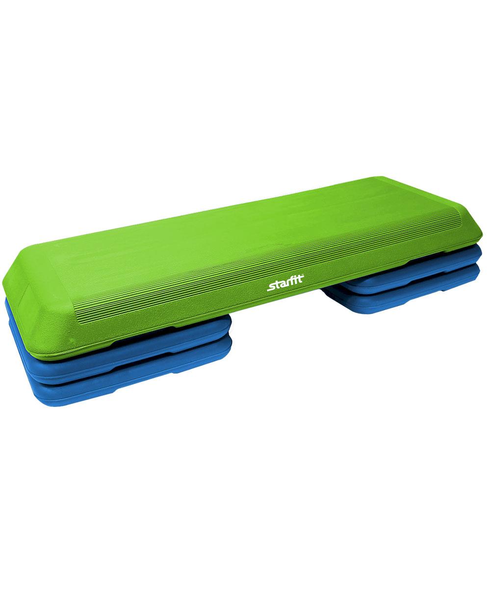 Степ-платформа Starfit SP-201, 3-уровневая, 110 х 41 х 20 смSF 0085Степ-платформа SP-201 предназначена для занятий аэробикой в фитнес-клубах, спортивных залах и для домашнего использования. С помощью тренажера можно оптимизировать нагрузку на мышцы ног и ягодиц, сделать мышцы тела подтянутыми и стройными. За счет высокоинтенсивной тренировки на степе, можно наладить работу сердечно-сосудистой системы. Степ-платформа один из самых популярных аксессуаров в фитнесе. Тренажер используют в функциональном тренинге, бодибилдинге, групповых программах. Количество уровней: 3. Высота платформы с уровнями: 10+5/10 см.