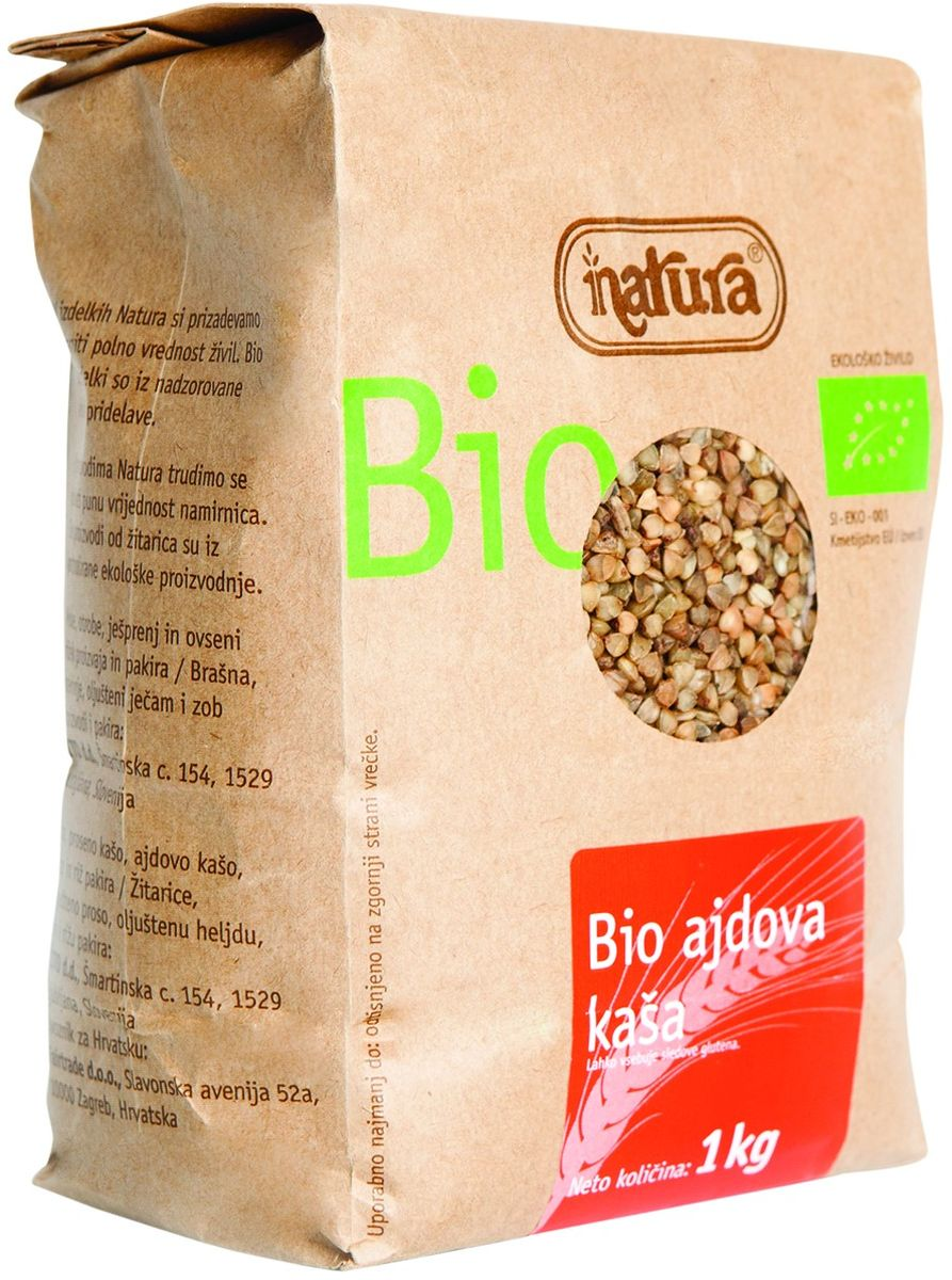 Zito Natura Bio Крупа гречневая органическая, 1 кг0120710Гречка занимает особое место в славянской кухне инаходит все большее применение в современномпитании. Блюда с гречкой изобилуют белками,витаминами, минералами и заряжают энергией.Органические продукты Natura имеют маркировку в соответствии с законодательством и европейскую экологическую маркировку сертифицированных органических продуктов питания, так как при их производстве не используются удобрения и распылители, запрещенные в органическом производстве и обработке. Органические продукты произведены под контролем SI - EKO - 001.Органические продукты Natura производятся в регионах, где природа пока еще живет своей жизнью. Они попадают на полки магазинов и на столы людей, выбирающих здоровое питание, в той же форме, в которой их создала природа: натуральными, питательными и здоровыми. Разнообразные натуральные зерна и семена обладают всеми свойствами злаков, полностью сохраняя, таким образом, свои полезные качества.