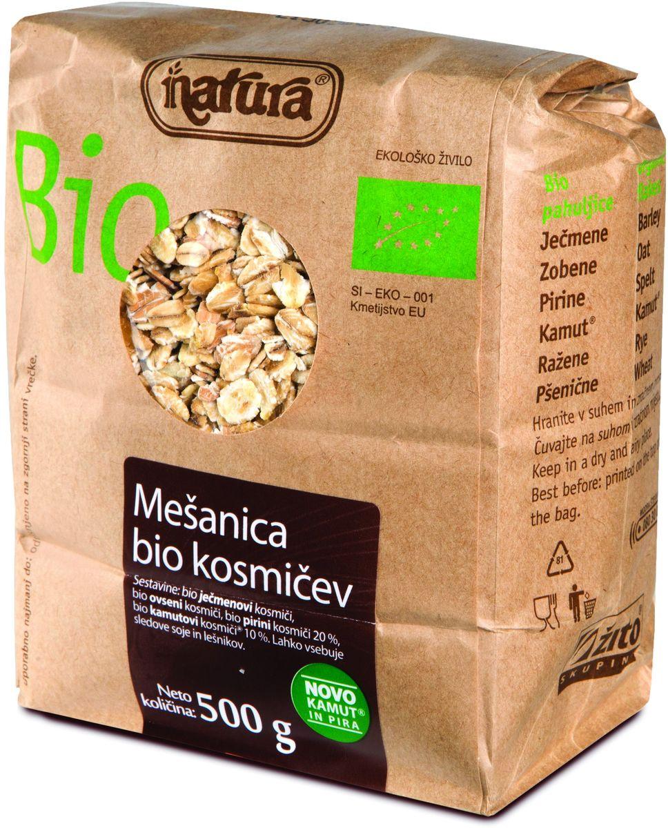 Zito Natura Bio Смесь хлопьев органическая, 500 г0120710Zito Natura Bio - смесь самых вкусных био-хлопьев для тех, кому нравится смешивать хлопья по своему вкусу, и для тех, кто хочет попробовать что-то новое и внести разнообразие в свой завтрак. Эта смесь включает в себя органические хлопья ячменя, овса, спельты и камута.Органические продукты Natura имеют маркировку в соответствии с законодательством и европейскую экологическую маркировку сертифицированных органических продуктов питания, так как при их производстве не используются удобрения и распылители, запрещенные в органическом производстве и обработке. Органические продукты произведены под контролем SI – EKO – 001.Органические продукты Natura производятся в регионах, где природа пока еще живет своей жизнью. Они попадают на полки магазинов и на столы людей, выбирающих здоровое питание, в той же форме, в которой их создала природа: натуральными, питательными и здоровыми. Разнообразные натуральные зерна и семена обладают всеми свойствами злаков, полностью сохраняя, таким образом, свои полезные качества.Уважаемые клиенты! Обращаем ваше внимание, что полный перечень состава продукта представлен на дополнительном изображении.