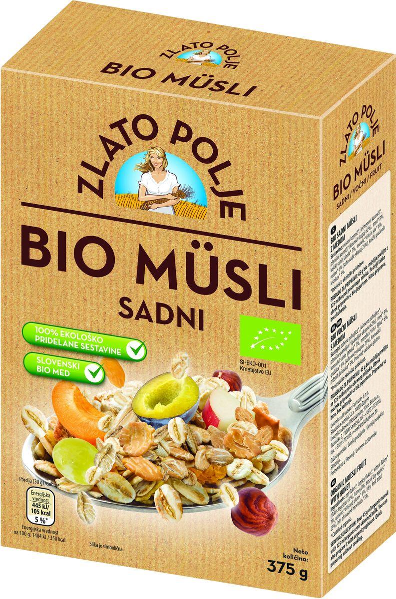 Zito Natura Bio Мюсли с фруктами, медом и фундуком органические, 375 г0120710Органические мюсли с фруктами от Zito Natura Bio – это смесь овсяных, перловых и пшеничных хлопьев, содержащая не менее 25% сухофруктов и обжаренных лесных орехов со словенским медом, произведенным в соответствии с процедурами, применяемыми в экологическом пищевом производстве.Органические продукты Zito Natura имеют маркировку в соответствии с законодательством и европейскую экологическую маркировку сертифицированных органических продуктов питания, так как при их производстве не используются удобрения и распылители, запрещенные в органическом производстве и обработке. Органические продукты произведены под контролем SI – EKO – 001.