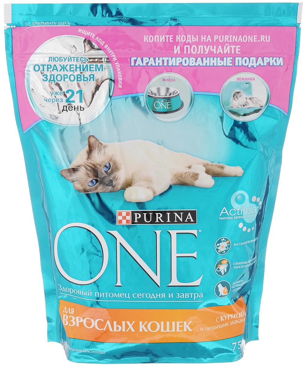 Корм сухой Purina One для взрослых кошек, с курицей и цельными злаками, 750 г12266732Корм для взрослых кошек (старше 1 года) Purina One с курицей и злаками идеально подходит для домашних питомцев, за счет своего сбалансированного состава сохраняя и поддерживая их здоровье и хорошее самочувствие.Научными исследованиями доказано благотворное влияние содержащихся в корме Омега 6 жирных кислот и цинка на здоровье кожи и шерсти питомцев. При постоянном включении в рацион домашнего животного сухого корма Purina One шерсть кошек становится густой и блестящей, а их кости — крепкими и подвижными, за что, помимо прочего, отвечает витамин D, содержащийся в корме в нужном количестве.Корм для взрослой кошки должен содержать достаточное количество белка, необходимого для активности животных в этом возрасте. Purina One с курицей и злаками отвечает и этому показателю, являясь оптимальным выбором для питания всех взрослых кошек.Товар сертифицирован.