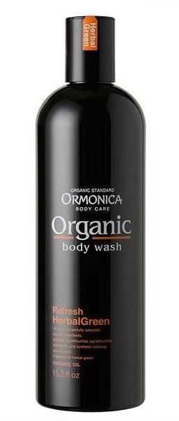 Ormonica Органическое жидкое мыло для тела Organic Body Wash Refresh, освежающее, аромат зеленых трав, 450 млМ034/G117Мыло для тела создано на основе растительных очищающих компонентов. Мелкие частицы кремообразной пены легко удаляют грязь и избыточный кожный жир, нежно очищая кожу. Цветы лаванды, экстракт листьев розмарина и другие 14 органических компонентов увлажняют и освежают кожу и придают ей здоровый вид.Обладает расслабляющим ароматом зеленых трав.Разработано на основе строгих органических стандартов компании ORMONICA.95% состава – натуральные растительные компоненты.Не содержит силикона, парабенов, синтетических красителей, минеральных масел и животных компонентов.