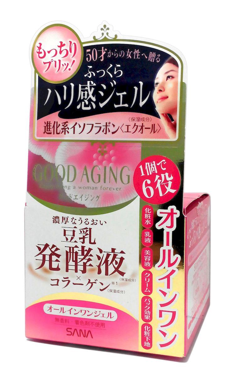 Sana Увлажняющий и подтягивающий крем для зрелой кожи 6 в 1 Good Aging Cream, 100гАрс-3255Увлажняющий и подтягивающий крем представляет собой универсальное средство, заменяющее 6 средств по уходу - лосьон, косметическое молочко, эссенцию, крем, маску и основу под макияж. Идеально подходит для ухода за зрелой кожей (старше 50 лет). Интенсивно увлажняет и питает кожу, придает ощущение мягкости и упругости, заметно разглаживает морщины.После использования крема Ваша кожа будет выглядеть молодой, отдохнувшей и сияющей. Активные компоненты:Изофлавоны, полученные из соевых бобов и красного клевера - это натуральные фитоэстрогены. Эффективно улучшают состояние кожи, придают ей ровный цвет и сияющий вид, делают упругой и гладкой, уменьшают глубину морщин. Способствуют удержанию влаги в коже.Экстракт граната благодаря содержанию мощного антиоксиданта - эллаговой кислоты - разглаживает морщины и препятствует преждевременному старению кожи. Увлажняет сухую, уставшую и потерявшую здоровый цвет кожу, питает и делает ее эластичной. Коллаген и гиалуроновая кислота придают коже упругость и увлажняют.Церамиды сохраняют баланс влаги в эпидермисе, препятствуют фотостарению и возникновению мелких морщин, выравнивают цвет лица, повышают эластичность, тонус и упругость кожи.Витамин В12 освежает и тонизирует кожу, разглаживает мелкие морщинки, замедляет процесс старения.Не содержит консервантов, красителей и отдушек.