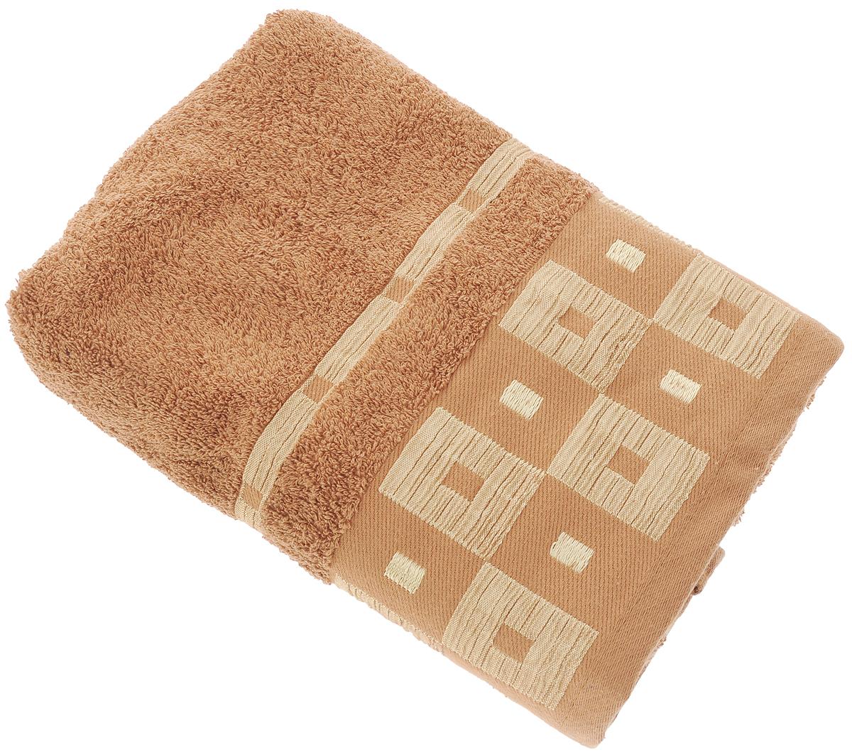 Полотенце Aisha Home Textile, цвет: коричневый, 70 х 140 см531-105Махровые полотенца AISHA Home Textile идеальное сочетание цены и качества. Полотенца упакованы в стильную подарочную коробку. В состав входит только натуральное волокно - хлопок. Лаконичные бордюры подойдут для любого интерьера ванной комнаты. Полотенца прекрасно впитывает влагу и быстро сохнут. При соблюдении рекомендаций по уходу не линяют и не теряют форму даже после многократных стирок.Состав: 100% хлопок.