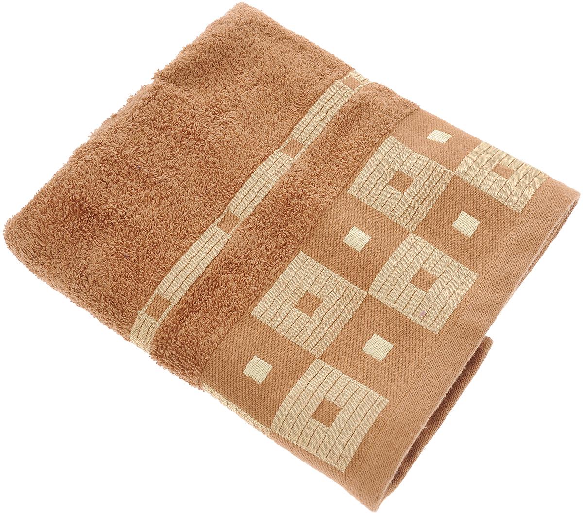 Полотенце Aisha Home Textile, цвет: коричневый, 50 х 90 см12723Махровые полотенца AISHA Home Textile идеальное сочетание цены и качества. Полотенца упакованы в стильную подарочную коробку. В состав входит только натуральное волокно - хлопок. Лаконичные бордюры подойдут для любого интерьера ванной комнаты. Полотенца прекрасно впитывает влагу и быстро сохнут. При соблюдении рекомендаций по уходу не линяют и не теряют форму даже после многократных стирок.Состав: 100% хлопок.