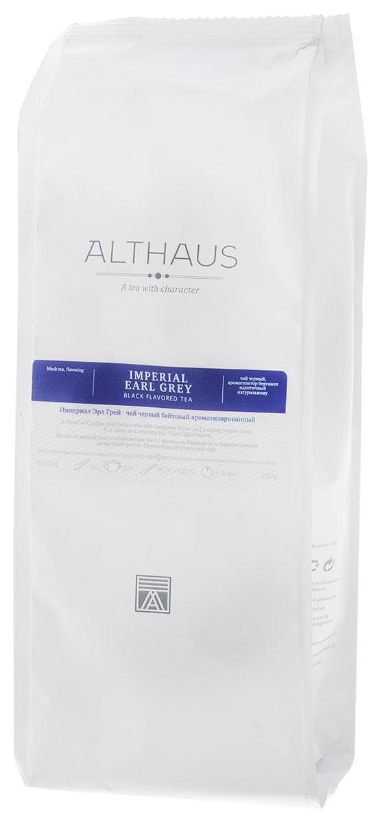 Althaus Imperial Earl Gre черный листовой чай, 250 г4791029008462Империал Эрл Грей — это купаж из лучших индийских и цейлонских сортов черного чая, дающий насыщенный классический вкус с элегантными цитрусовыми нотками бергамота. Эрл Грей (в переводе Граф Грей) — название, породившее множество легенд. Согласно одной из них, рецепт чая британскому дипломату Чарльзу Грею передал китайский вельможа в обмен на ценную услугу. Натуральное масло бергамота дополняет букет чая яркими терпко-сладкими оттенками. При заваривании Империал Эрл Грей дает красивый карамельного цвета настой; освежающий смолисто-цитрусовый запах становится более деликатным, балансируя крепкий структурный вкус чая. Масло бергамота способствует концентрации внимания и улучшению настроения, поэтому Эрл Грей идеален для утреннего чаепития. Этот чай прекрасно сочетается с молоком и сахаром. Оптимальная температура заваривания Империал Эрл Грей 95°С Температура воды: 85-100 °СВремя заваривания: 3-5 мин Цвет в чашке: светло-коричневый