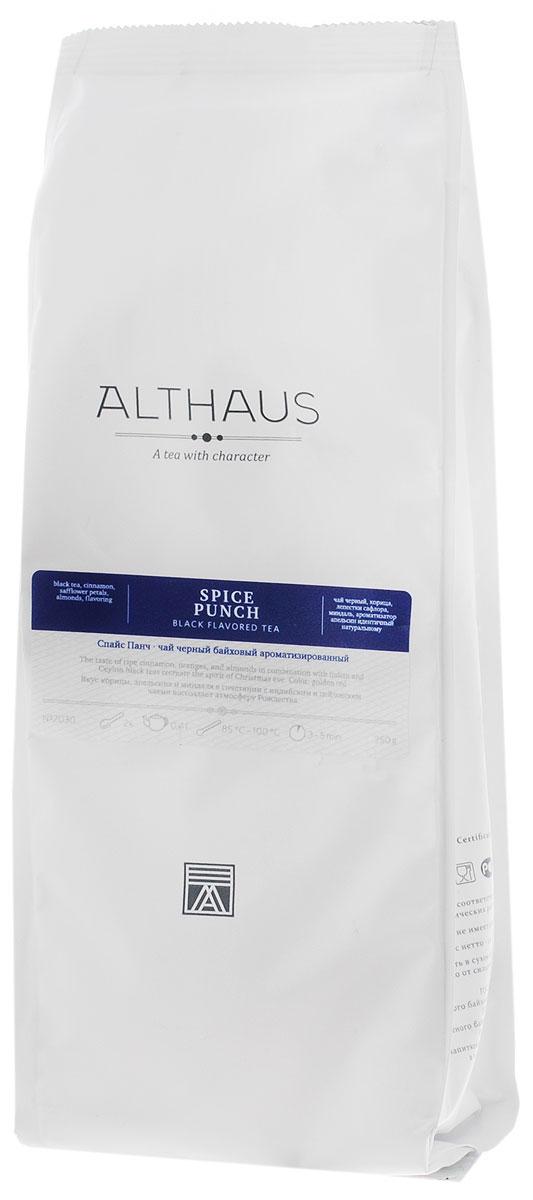 Althaus Spice Punch черный листовой чай, 250 г4791029022673Спайс Панч — превосходная смесь индийских и цейлонских черных чаев с пряным ароматом Востока. Этот чудесный напиток заменит вам чашку ароматного вечернего пунша. Купаж Спайс Панч имеет очень интересный внешний вид: черные чаинки гармонично сочетаются с огненно-шафрановыми лепестками сафлора, палочками корицы и кусочками миндального ореха. В букете Спайс Панч звучит многоголосие заморских пряностей: жгучая нота корицы, пикантная острота гвоздики, бархатистая горчинка миндаля, сладость имбирного печенья раскрываются в ярком янтарном настое.Зрелая корица, апельсины и миндаль рождают атмосферу рождественского праздника. Восхитительный аромат Спайс Панч тонизирует и согревает долгими зимними вечерами. Оптимальная температура заваривания Спайс Панч 95°С. Температура воды: 85-100 °СВремя заваривания: 3-5 мин Цвет в чашке: насыщенный бронзовый