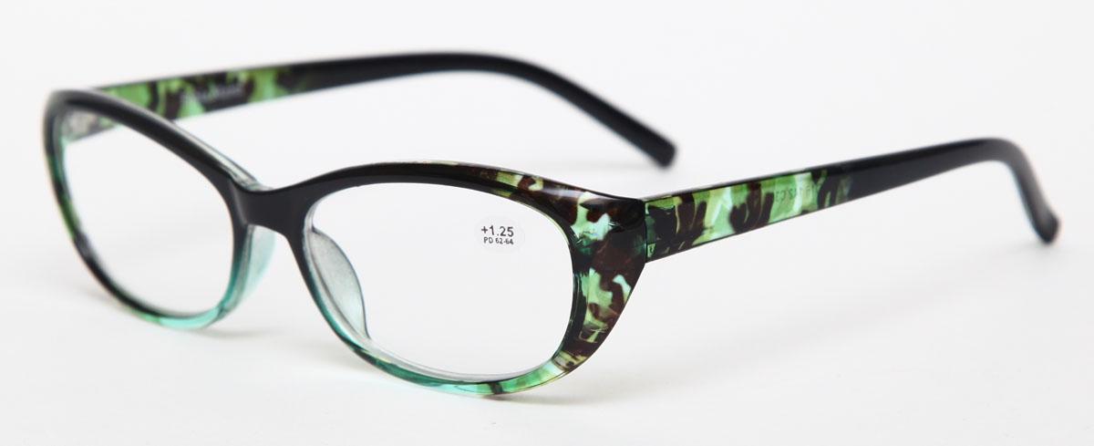 Proffi Home Очки корригирующие (для чтения) 729 Fabia Monti +1.25, цвет: зеленый27112015Надев эти очки, вы сможете четко видеть пространство впереди себя. Они удобны при чтении. Оправа очков легкая и не создает никакого дискомфорта.