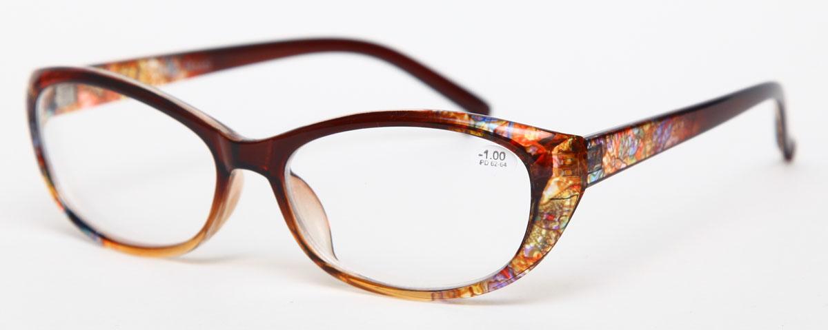Proffi Home Очки корригирующие 729 Fabia Monti -1.00, цвет: желтый60748Надев эти очки, вы сможете четко видеть пространство впереди себя. Они удобны при чтении. Оправа очков легкая и не создает никакого дискомфорта.