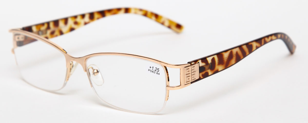 Proffi Home Очки корригирующие (для чтения) 302 Fabia Monti +1.25, цвет: золотой27112015Надев эти очки, вы сможете четко видеть пространство впереди себя. Они удобны при чтении. Оправа очков легкая и не создает никакого дискомфорта.