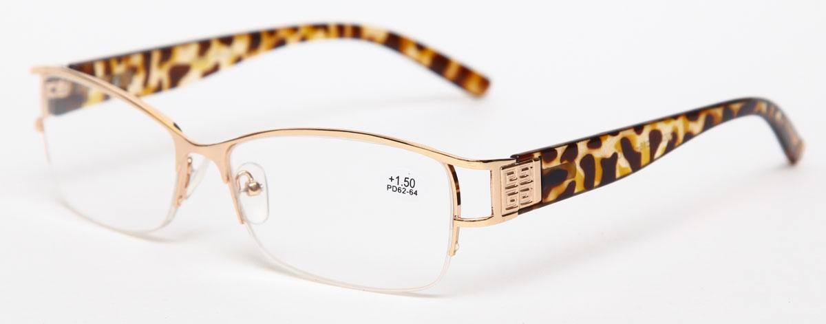 Proffi Home Очки корригирующие (для чтения) 302 Fabia Monti +1.50, цвет: золотойперфорационные unisexНадев эти очки, вы сможете четко видеть пространство впереди себя. Они удобны при чтении. Оправа очков легкая и не создает никакого дискомфорта.