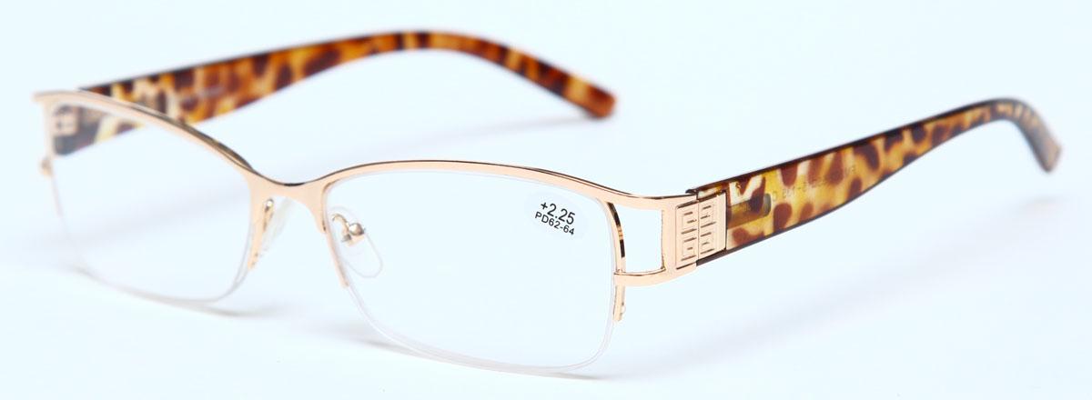 Proffi Home Очки корригирующие (для чтения) 302 Fabia Monti +2.25, цвет: золотойБУ-00000316Надев эти очки, вы сможете четко видеть пространство впереди себя. Они удобны при чтении. Оправа очков легкая и не создает никакого дискомфорта.