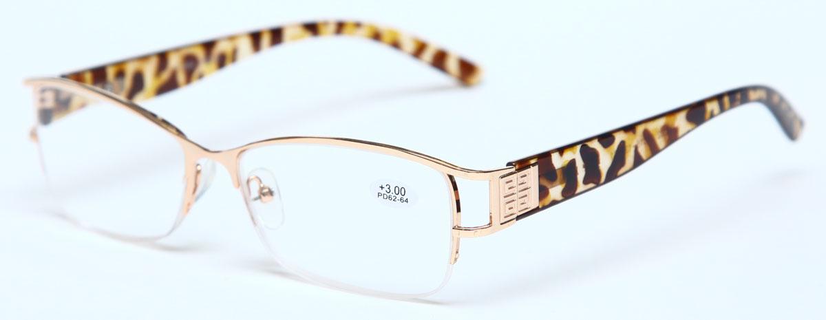 Proffi Home Очки корригирующие (для чтения) 302 Fabia Monti +3.00, цвет: золотойAS003Надев эти очки, вы сможете четко видеть пространство впереди себя. Они удобны при чтении. Оправа очков легкая и не создает никакого дискомфорта.