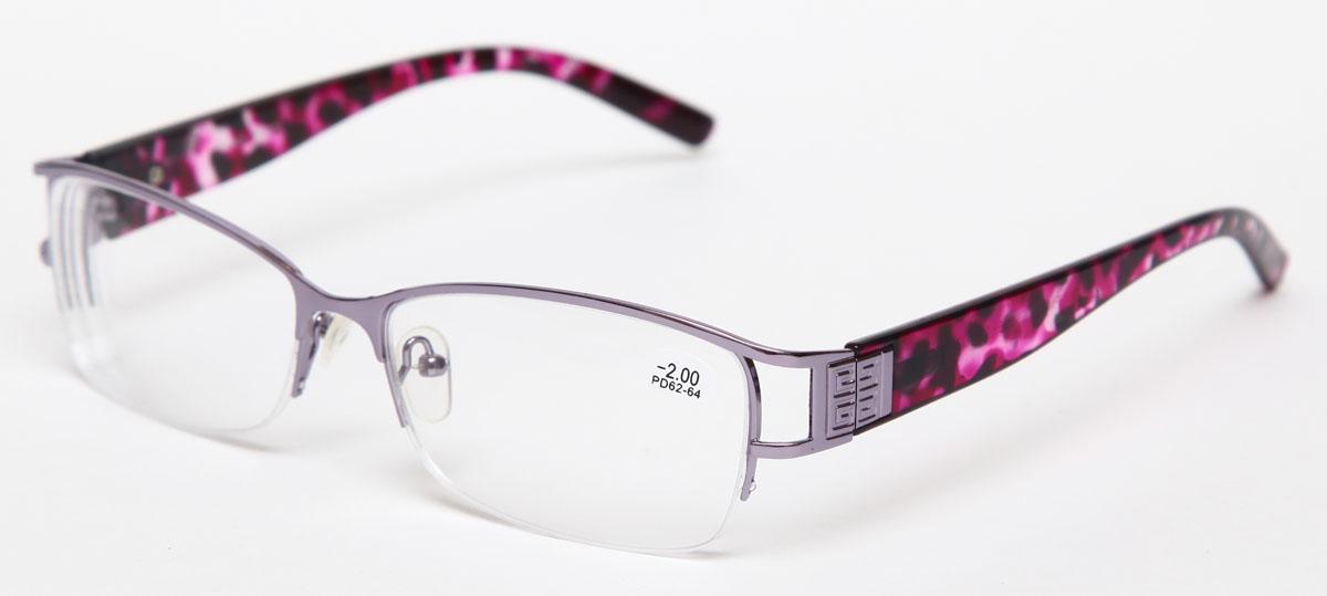 Proffi Home Очки корригирующие 302 Fabia Monti -2.00, цвет: серый00001313Надев эти очки, вы сможете четко видеть пространство впереди себя. Они удобны при чтении. Оправа очков легкая и не создает никакого дискомфорта.