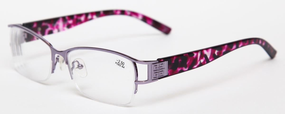 Proffi Home Очки корригирующие 302 Fabia Monti -2.50, цвет: серый27112015Надев эти очки, вы сможете четко видеть пространство впереди себя. Они удобны при чтении. Оправа очков легкая и не создает никакого дискомфорта.