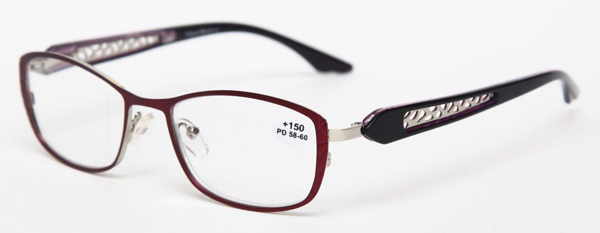 Proffi Home Очки корригирующие (для чтения) 827 Fabia Monti +1.50, цвет: фиолетовыйAS003Надев эти очки, вы сможете четко видеть пространство впереди себя. Они удобны при чтении. Оправа очков легкая и не создает никакого дискомфорта.