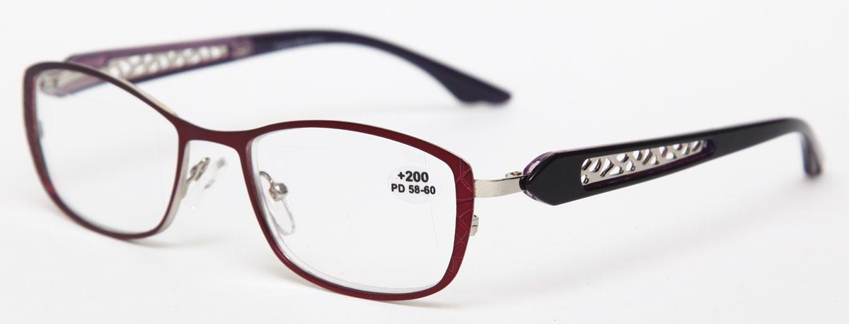 Proffi Home Очки корригирующие (для чтения) 827 Fabia Monti +2.00, цвет: фиолетовыйGESS-306Надев эти очки, вы сможете четко видеть пространство впереди себя. Они удобны при чтении. Оправа очков легкая и не создает никакого дискомфорта.