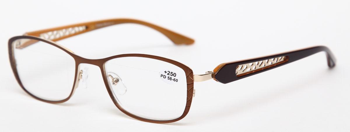 Proffi Home Очки корригирующие (для чтения) 827 Fabia Monti +2.50, цвет: оранжевыйБУ-00000316Надев эти очки, вы сможете четко видеть пространство впереди себя. Они удобны при чтении. Оправа очков легкая и не создает никакого дискомфорта.
