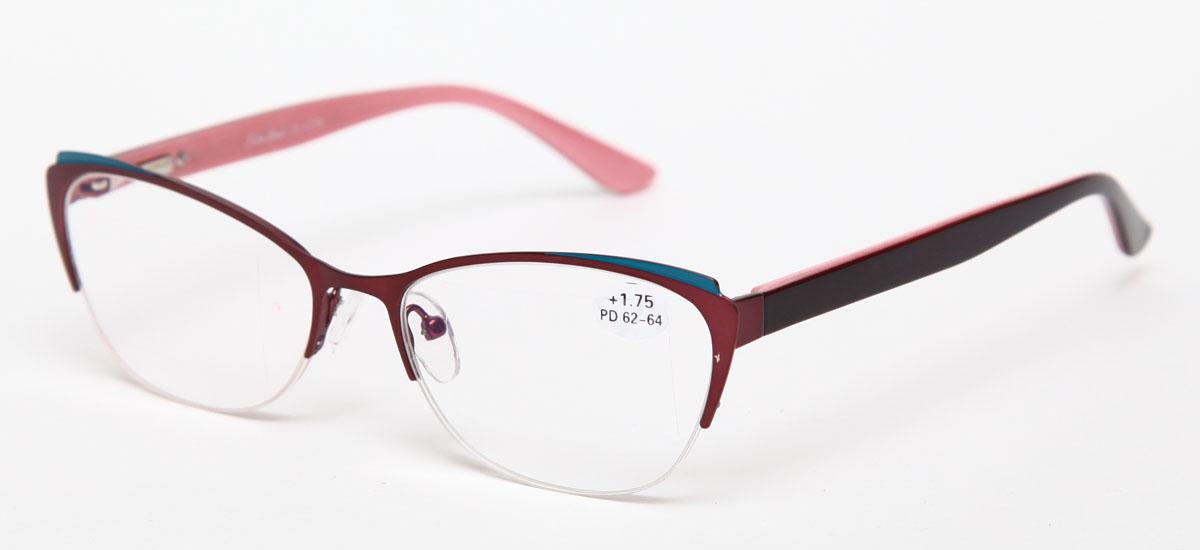 Proffi Home Очки корригирующие (для чтения) 830 Fabia Monti +1.75, цвет: бордовый00001313Надев эти очки, вы сможете четко видеть пространство впереди себя. Они удобны при чтении. Оправа очков легкая и не создает никакого дискомфорта.