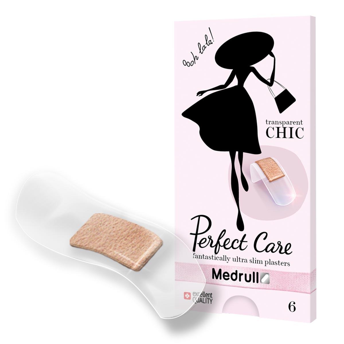 Medrull Набор пластырей Perfect Care, №6БУ-00000316Идеально прозрачные пластыри, которые помогут защитить рану и будут практически незаметны на Вашей коже. Удобная и красивая упаковка, небольшого размера, не займет много места в Вашей сумочке. Пластыри изготовлены из тонкого, эластичного, прозрачного, полимерного, приятного для кожи материала. Свойства пластыря: водонепроницаемые, грязенепроницаемые, гипоаллергенные, эластичные, плотно прилегающие. Абсорбирующая подушечка изготовлена из вискозы и обладает высокой впитываемостью. Верхняя часть подушечки обработана полипропиленом, что защищает от вероятности прилипания пластыря к поврежденной поверхности кожи.