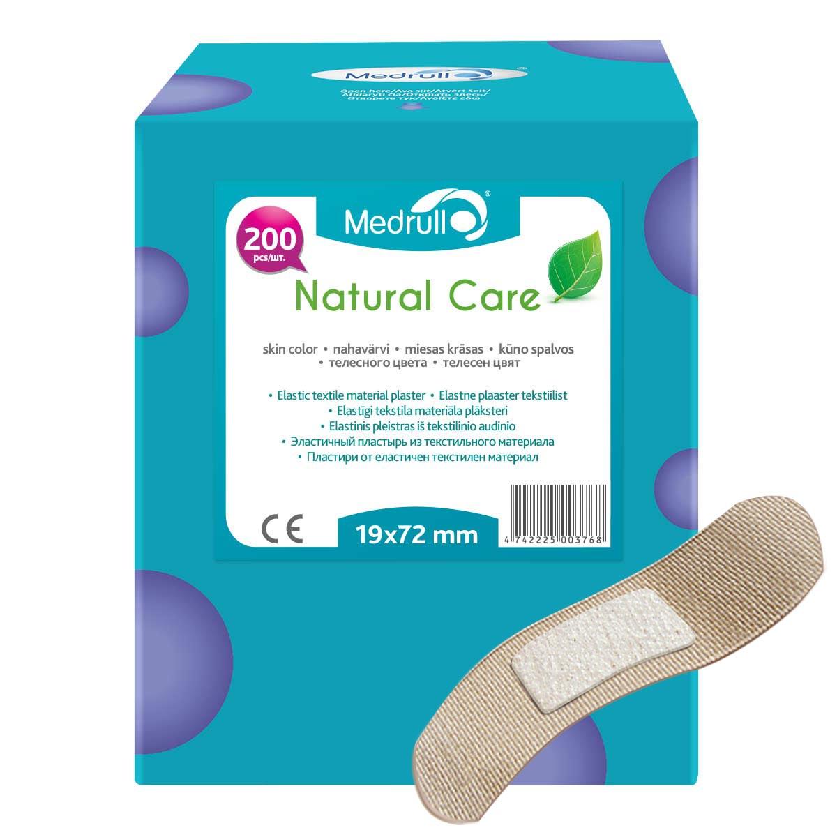 Medrull Набор пластырей Natural Care, 1,9х7,2 см, №2004742225003768Гипоаллергенные пластыри, предназначенные для людей, кожа которых, чувствительна к факторам окружающей среды. Пластыри изготовлены из приятного для кожи эластичного,текстильного материала, в состав которого входит - 65% хлопок, 35% полиамид, благодаря чему, возможность появления аллергии снижена до минимума. Свойства пластыря: грязенепроницаемые, гипоаллергенные, эластичные, дышащие, плотно прилегающие. Абсорбирующая подушечка изготовлена из вискозы и обладает высокой впитываемостью. Верхняя часть подушечки обработана полипропиленом, что защищает от вероятности прилипания пластыря к поврежденной поверхности кожи.Уважаемые клиенты! Обращаем ваше внимание на возможные изменения в дизайне упаковки. Качественные характеристики товара остаются неизменными. Поставка осуществляется в зависимости от наличия на складе.