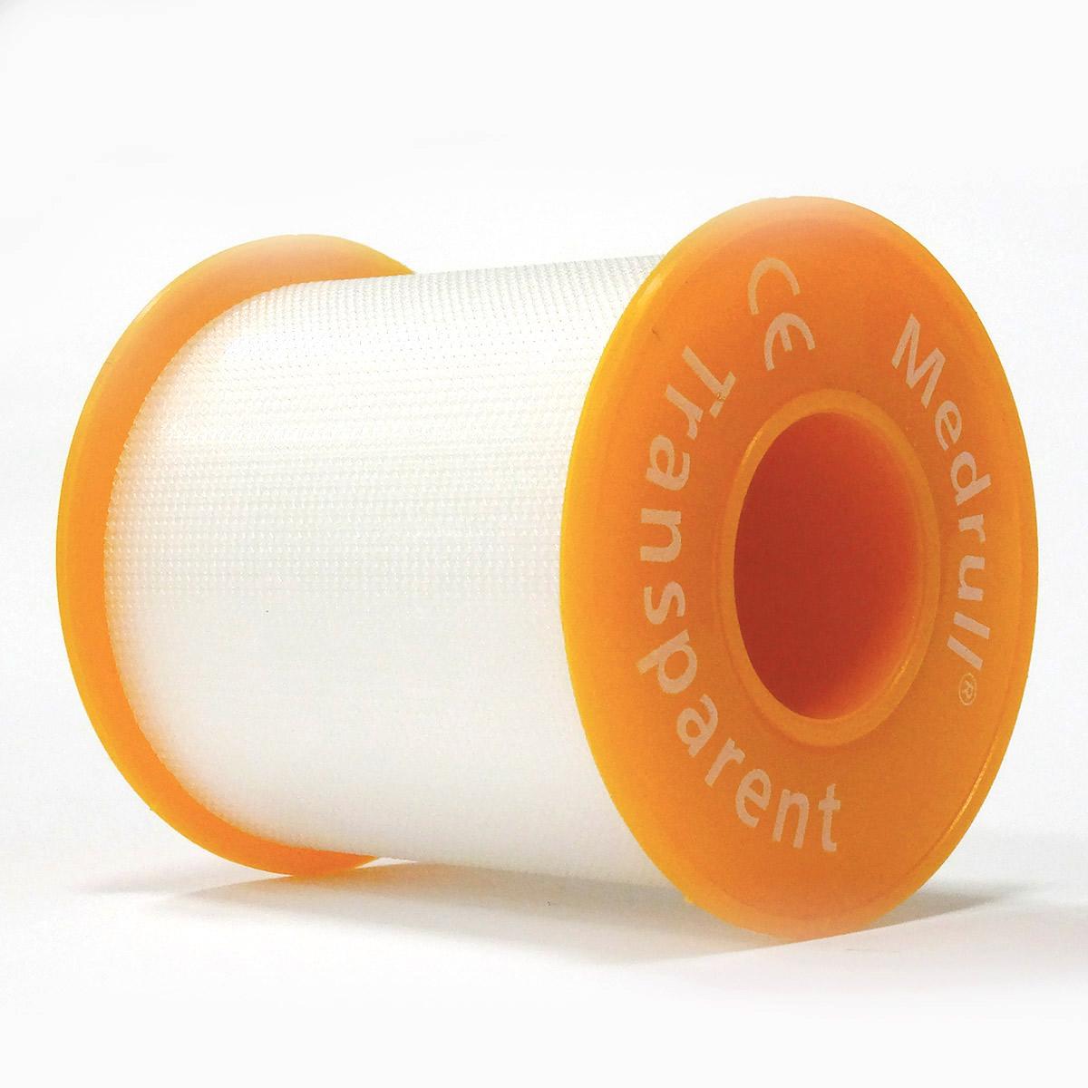 Medrull Лейкопластырь медицинский фиксирующий Transparent, рулонный на полимерной основе, 5х500 см4260071590039ПЛАСТЫРЬ В РУЛЛОНЧИКЕ TRANSPARENT/ ПРОЗРАЧНЫЙ Состав Полимерный материал. Структура материала Перфорированый полимерный материал на цинк – оксидной основе. Размер 5cм x 500cм