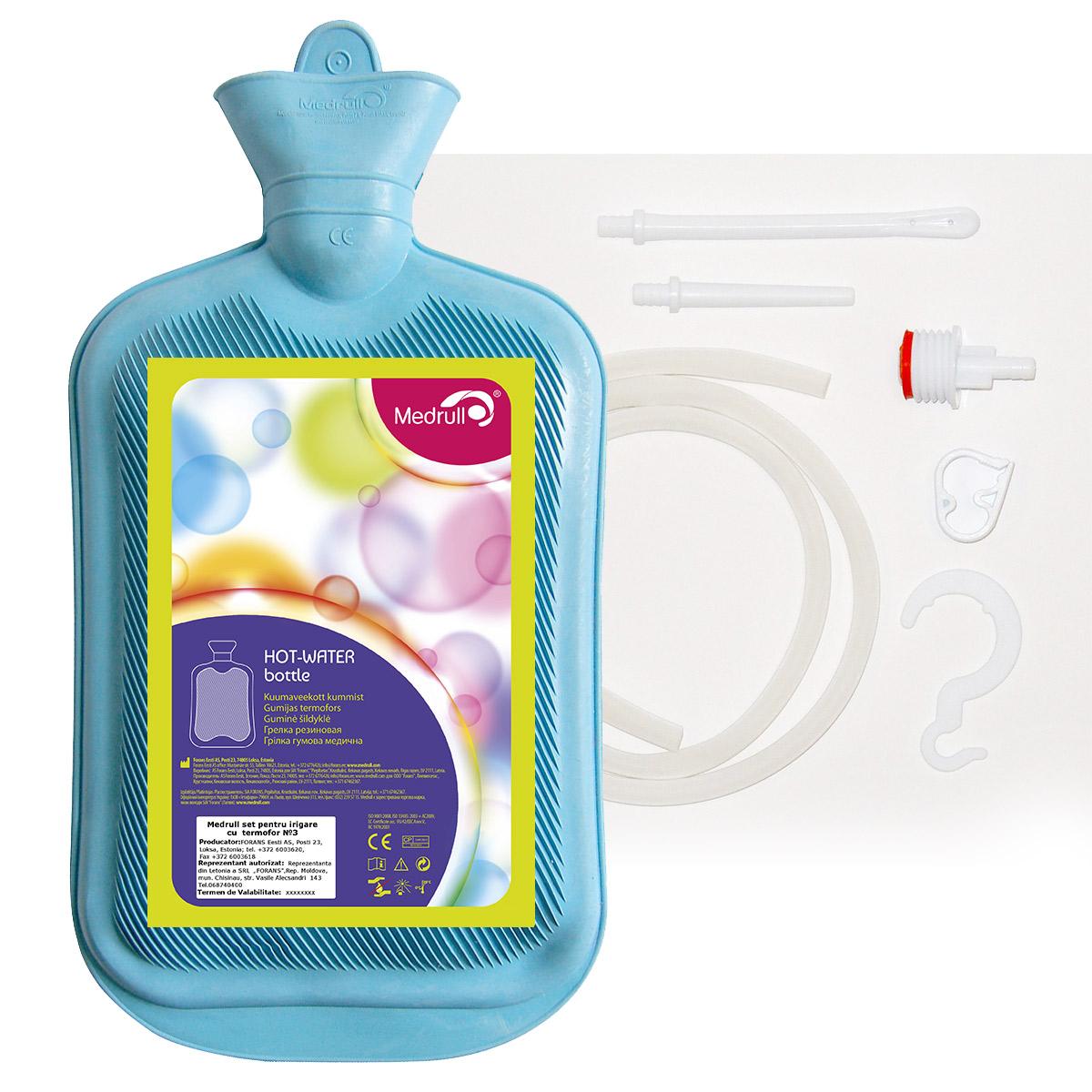 Medrull Грелка резиновая Тип Б-3, комбинированная, 2500 мл4742225006844ГРЕЛКА РЕЗИНОВАЯ Сoстав резина. Вместимость в литрах 2.5л.