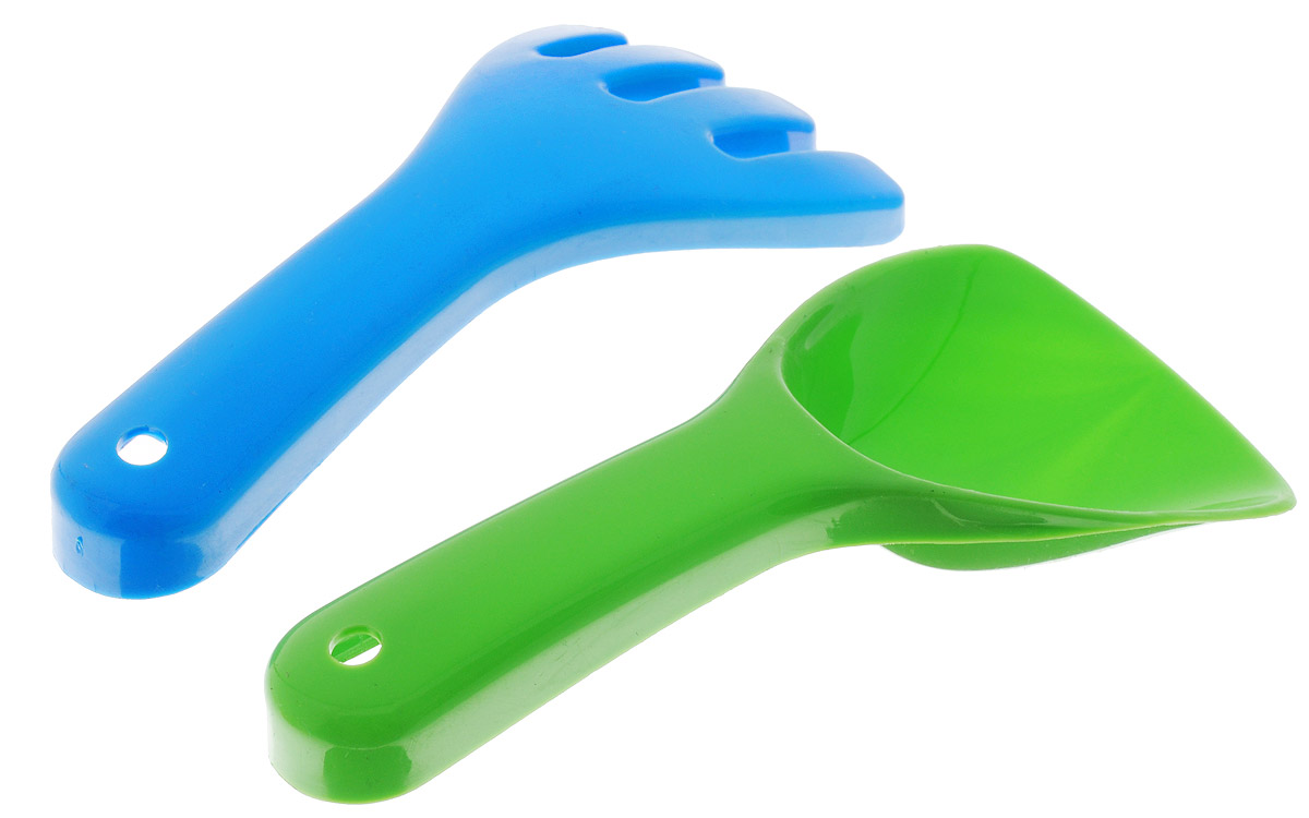 Karolina Toys Набор для игры с песком Малый цвет зеленый синий 2 предмета