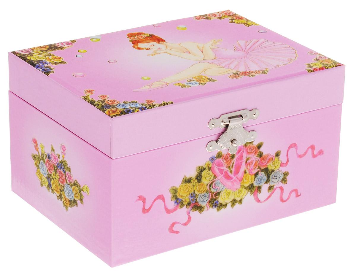 Jakos Музыкальная шкатулка Балерина цвет светло-розовый jakos музыкальная шкатулка феи в листьях