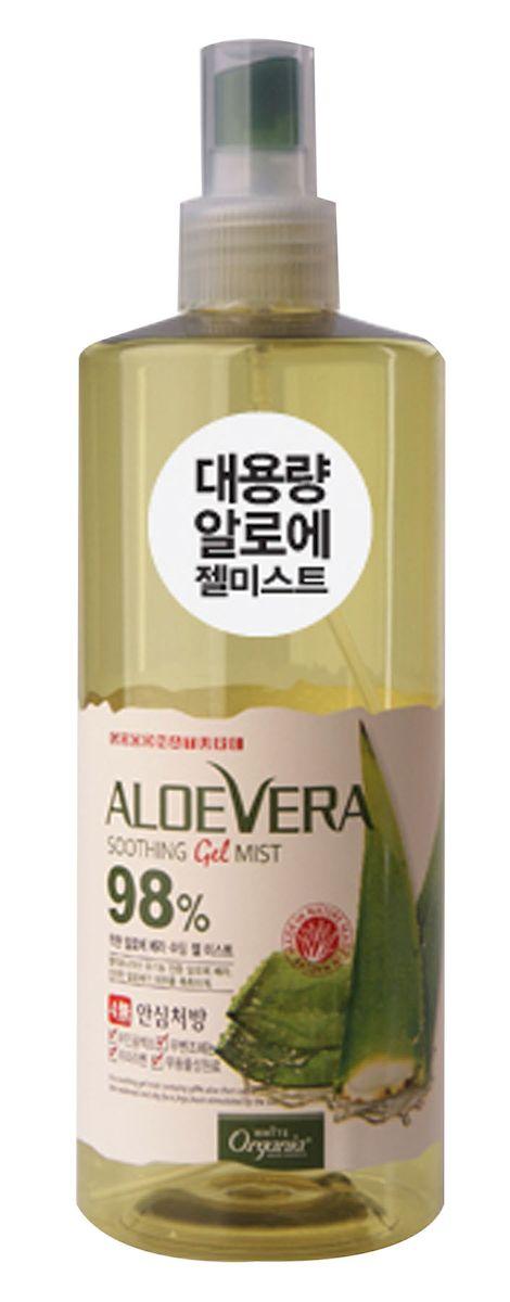 """Whitecospharm Успокаивающий и освежающий спрей с натуральным соком алоэ вера """"White Organia"""", 400 мл"""