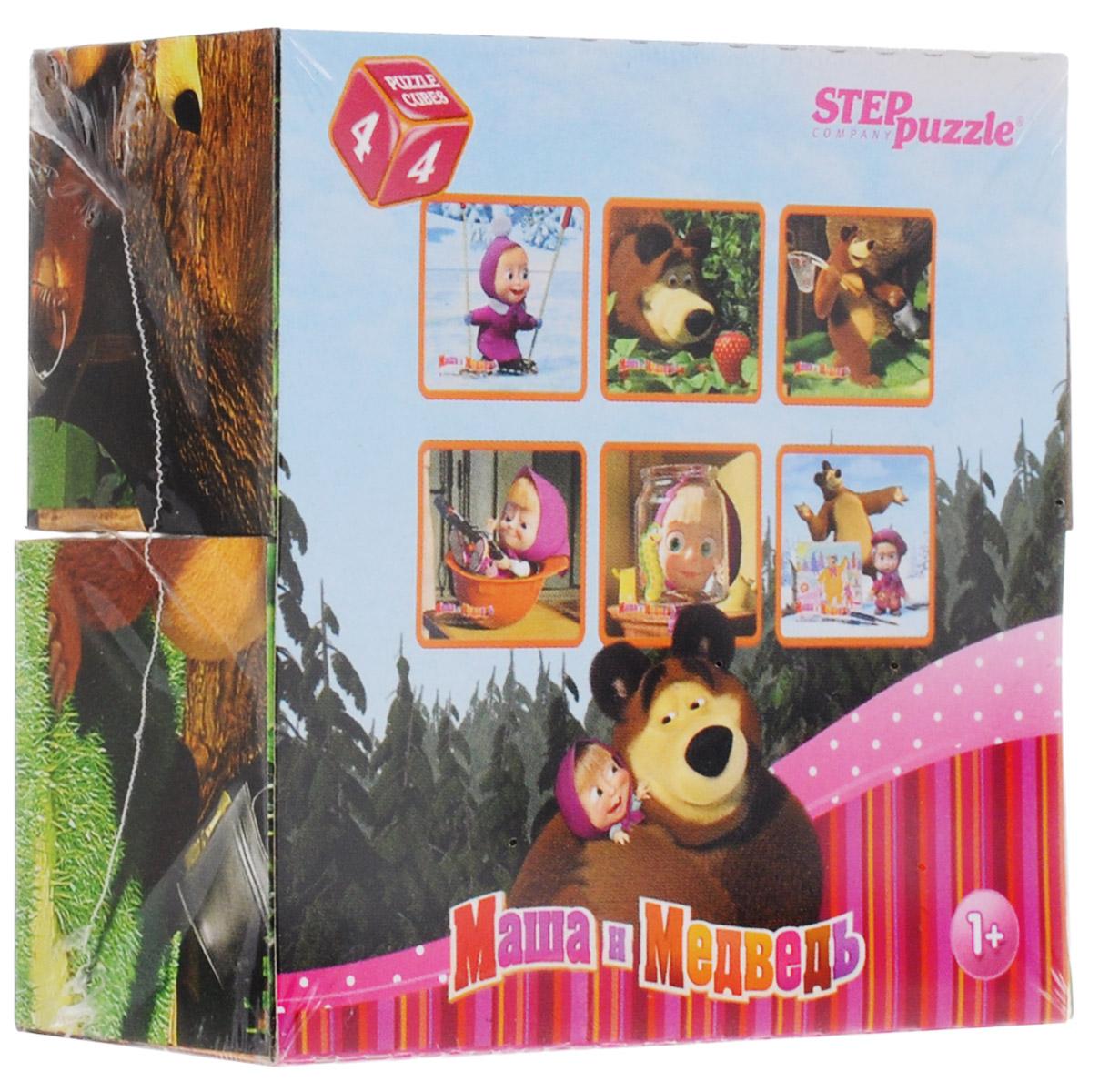 Step Puzzle Кубики Маша и Медведь 87132