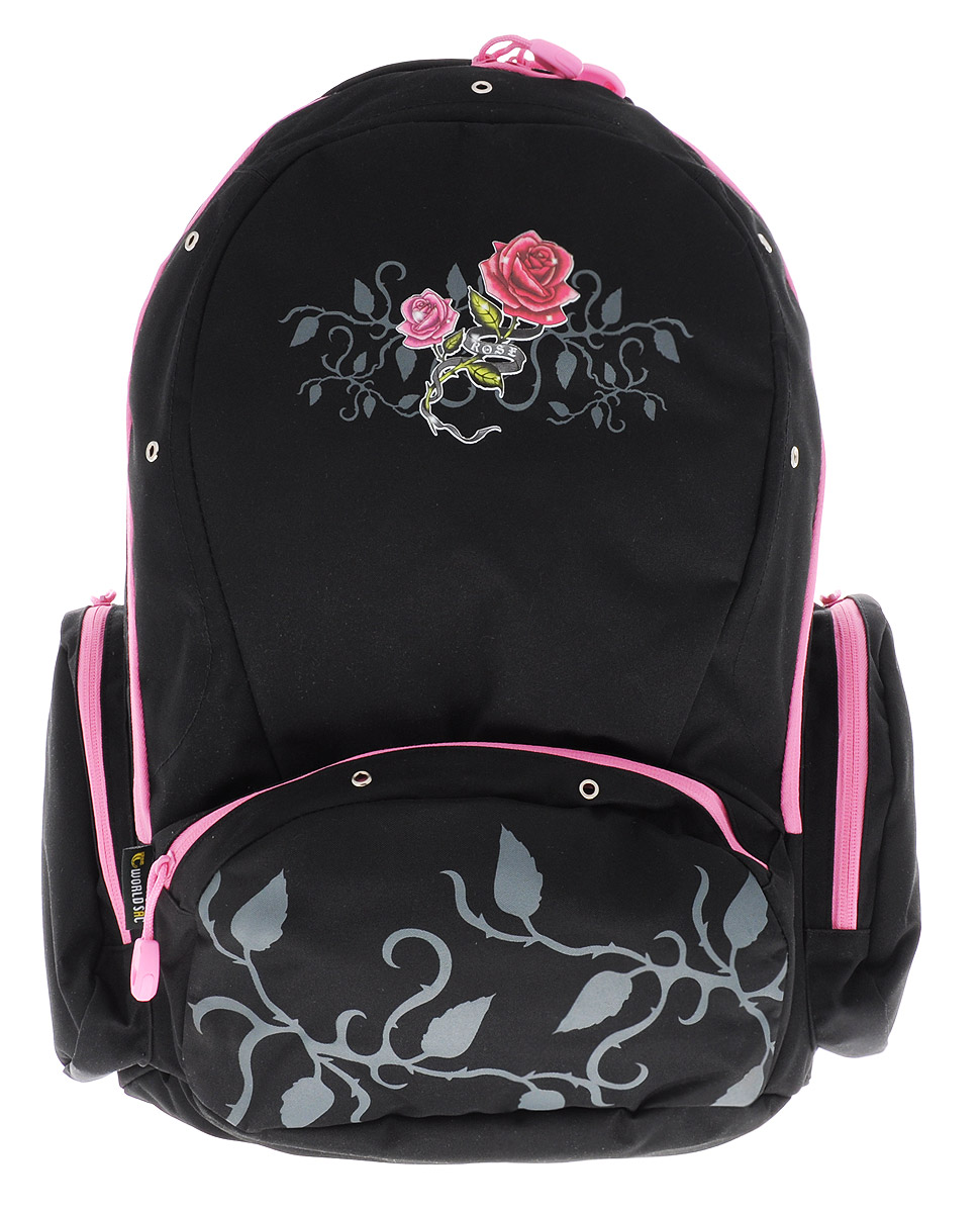 Tiger Enterprise Рюкзак детский Rose72523WDУдобный детский рюкзак Tiger Enterprise Rose - это красивый и стильный рюкзак, который подойдет всем, кто хочет разнообразить свои школьные будни.Благодаря анатомической рельефной спинке, повторяющей контур спины и двум эргономичным плечевым ремням, длина которых регулируется, у ребенка не возникнут проблемы с позвоночником. Рюкзак выполнен из качественного и прочного материала.Рюкзак имеет одно основное отделение, которое закрывается на застежку-молнию с двумя бегунками. Внутри отделения расположен вместительный накладной карман на резинке и небольшой пришивной кармашек на молнии. По бокам рюкзака расположены два накладных кармана на молниях, на лицевой стороне - вместительный карман на молнии. Изделие оснащено удобной ручкой для переноски в руках и петлей для подвешивания.Детский рюкзак Tiger Enterprise Rose станет незаменимым спутником вашего ребенка в походах за знаниями.